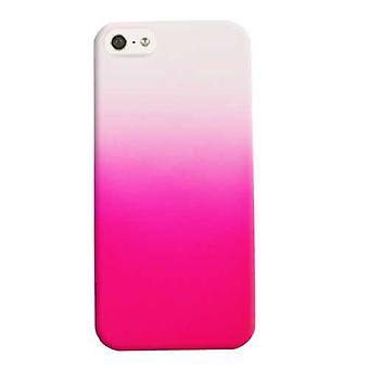 Illimité Cellular Hybrid Fit On Case pour Apple iPhone 5 / 5S (Leather Finish Two Tone White et Hot Pink)