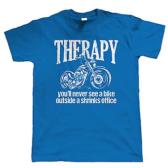 Therapie, mens Biker T shirt, gift voor hem vader FathersDay