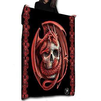 Wild star hearts - skull embrace - fleece / throw / tapestry