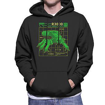 R3000 Robot Database Ghost In A Shell Men's Hooded Sweatshirt