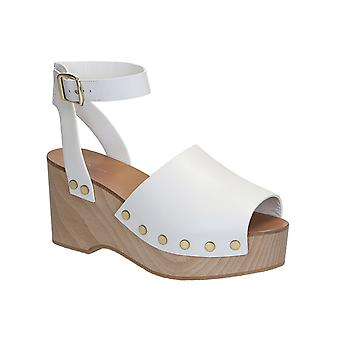 C�line wedges clogs sandals in white Calf leather