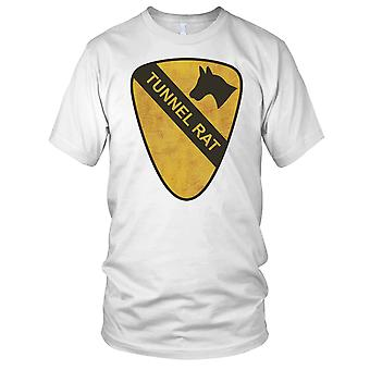 US Army 1st Cavalry Tunnel Rat Grunge Effect - Vietnam War Kids T Shirt