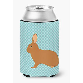 Carolines Treasures  BB8143CC Rex Rabbit Blue Check Can or Bottle Hugger