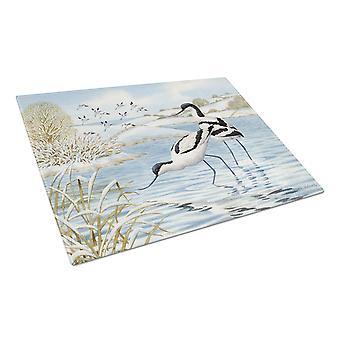 Carolines Treasures  ASA2190LCB Avocet Glass Cutting Board Large