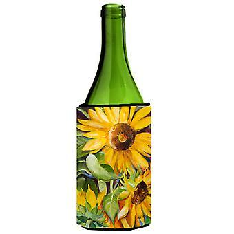 Zonnebloemen wijnfles drank isolator Hugger