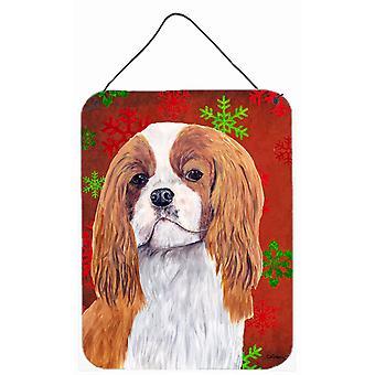 طباعة الكلب المتعجرف الثلج الأحمر عطلة عيد الميلاد الجدار أو الباب معلقة