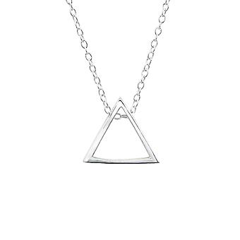Triangle - 925 Sterling Silver Plain Necklaces - W25837X