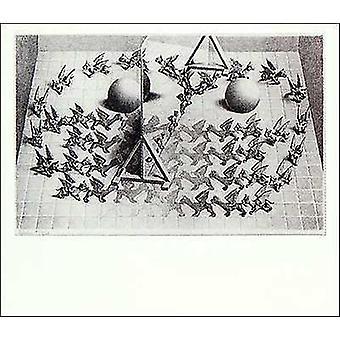Magic Mirror Poster Poster Print by MC Escher