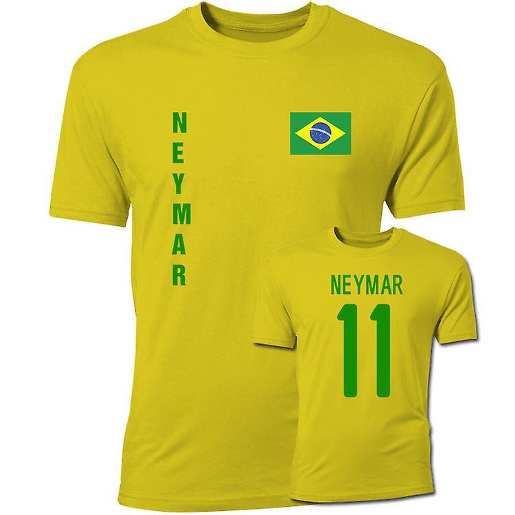 the latest bf752 19d38 Neymar Brazil Flag T-Shirt (Yellow)