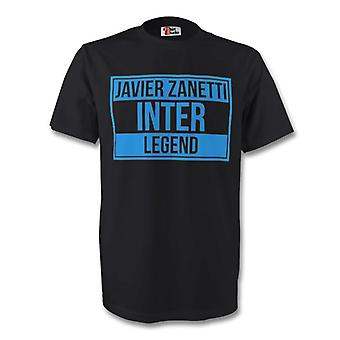 Javier Zanetti Inter Milan Legend Tee (black)