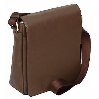 "Pebble Leather Ipad 10.2"" Tablet Flapover Cross Body Shoulder Messenger Bag Case"