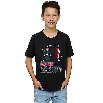Marvel Boys Avengers Infinity War Captain America Character T-Shirt