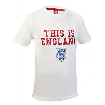 Anglia piłka nożna dla dzieci jest Anglii Tee - biały