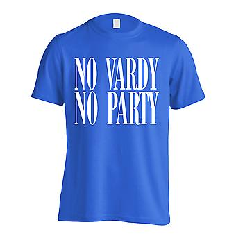 Leicester No Vardy No Party T-Shirt (Blue)