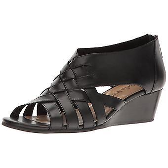 Bella Vita Womens Isabelle Leather Open Toe Casual Platform Sandals