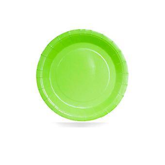 Assiettes en papier vert chaux 9
