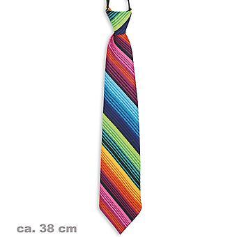 Krawatte bunt Regenbogen Clown Rainbow Accessoire 38cm