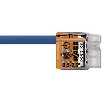 Schraubklemme Starr: 0,5-2,5 mm ² Anzahl der Pins: 3 WAGO 100 PC Transparent, Orange