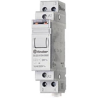 Finder 20.22.9.012.4000 16A Modular Step Relay 20.22.9.012.4000 12 V DC DPST-NO 16 A (AC1) 4000VA/(AC15) 750 VA