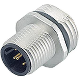 Binder 09-3431-77-04 M12 Sensor / Aktor-Stecker, Kappe, Schraube direkt