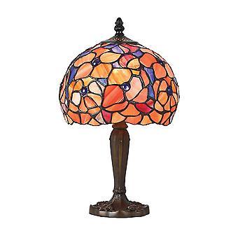 Interiors 1900 Josette Tiffany Küçük Tek Işıklı Masa Lambası Wit