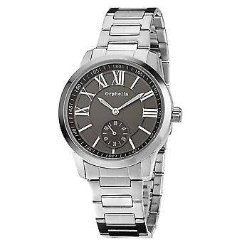 ORPHELIA メンズ アナログ腕時計高級クラフト シルバー ステンレス 122-7704-48