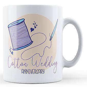 Cotton Wedding Anniversary (2nd) - Printed Mug