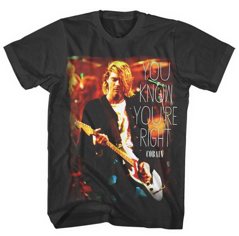 Kurt Cobain du vet du & apos; re høyre T skjorte | Fruugo NO