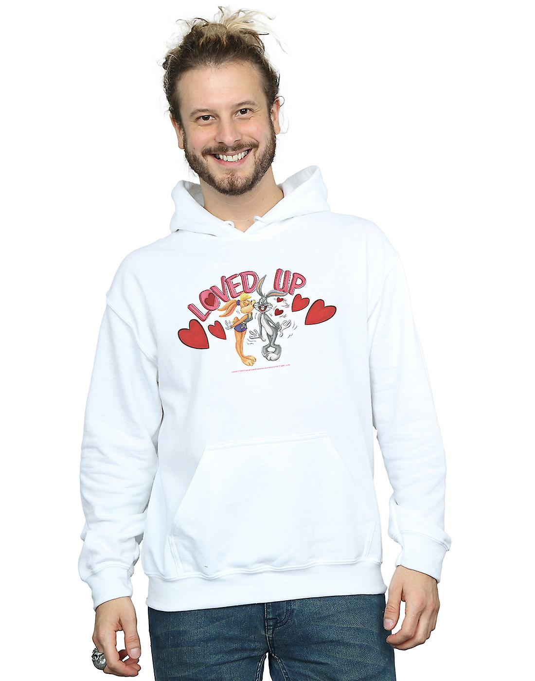 Looney Tunes Men's Bugs Bunny And Lola Valentine's Day Loved Up Hoodie