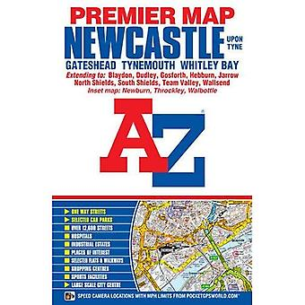 Newcastle Upon Tyne Premier Map (A-Z Road Map)