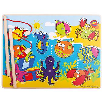 Bigjigs Toys Wooden Magnetic Fishing Fun Game with Rods