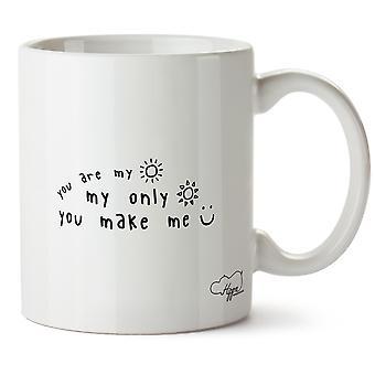 Hippowarehouse tu es mon rayon de soleil, mon seul rayon de soleil, vous Me rendez heureux imprimé Mug tasse céramique 10oz