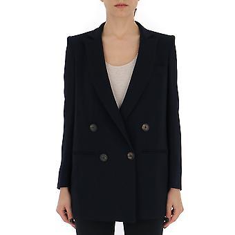 New York Industrie Ii684vi006280 Women's Blue Cotton Blazer