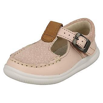 Tytöt Clarks Polka Dot yksityiskohtaiset T-Bar kengät pilvi Rosa T