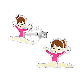 Børns sterling sølv gymnastik stud øreringe