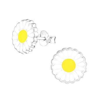 Children's Sterling Silver Daisy Stud Earrings
