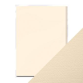 Craft Perfect by Tonic Studios A4 Weave Textured Card Cream | Pack of 10
