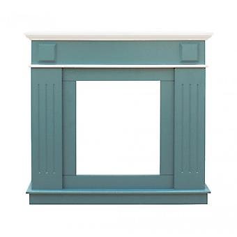 Furniture Rebecca Frame For Decoration Chimney Finto Mdf Green White 100x109x26