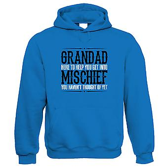 Grandad Mischief Mens Funny Hoodie - Birthday Fathers Day Gift for Grandad