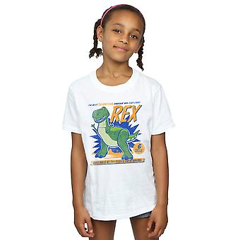 Disney Girls Toy Story 4 Rex Terrifying Dinosaur T-Shirt