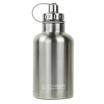 Ecovessel Boss Growler 1900ml Hot Cold Drinks Water Bottle & Infuser