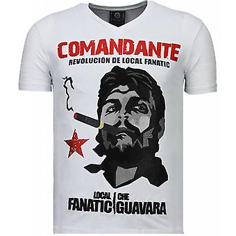 T-shirt Che Guevara Comandante-Rhinestone
