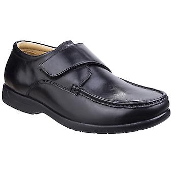 Fleet & Foster Mens Fred Dual Fit Moccasin Black