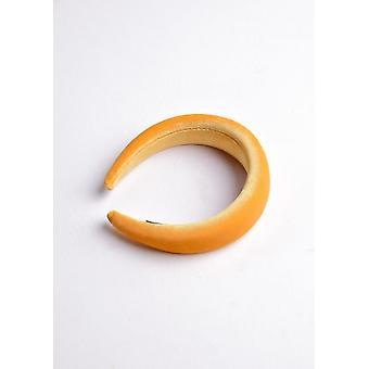 Velvet Padded Headband Mustard Yellow