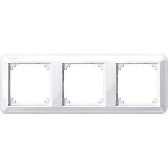 Merten 3x Frame Atelier-M Polar white glossy 388319