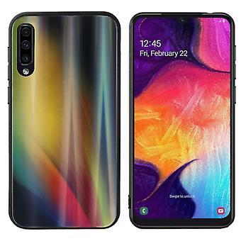 Rückenabdeckung Aurora Glas für Samsung A70 Gelb