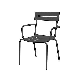 Strand7 | Avignon - Bond stapelbarer Aluminium-Gartenstuhl |  Anthrazit | Gartenstühle