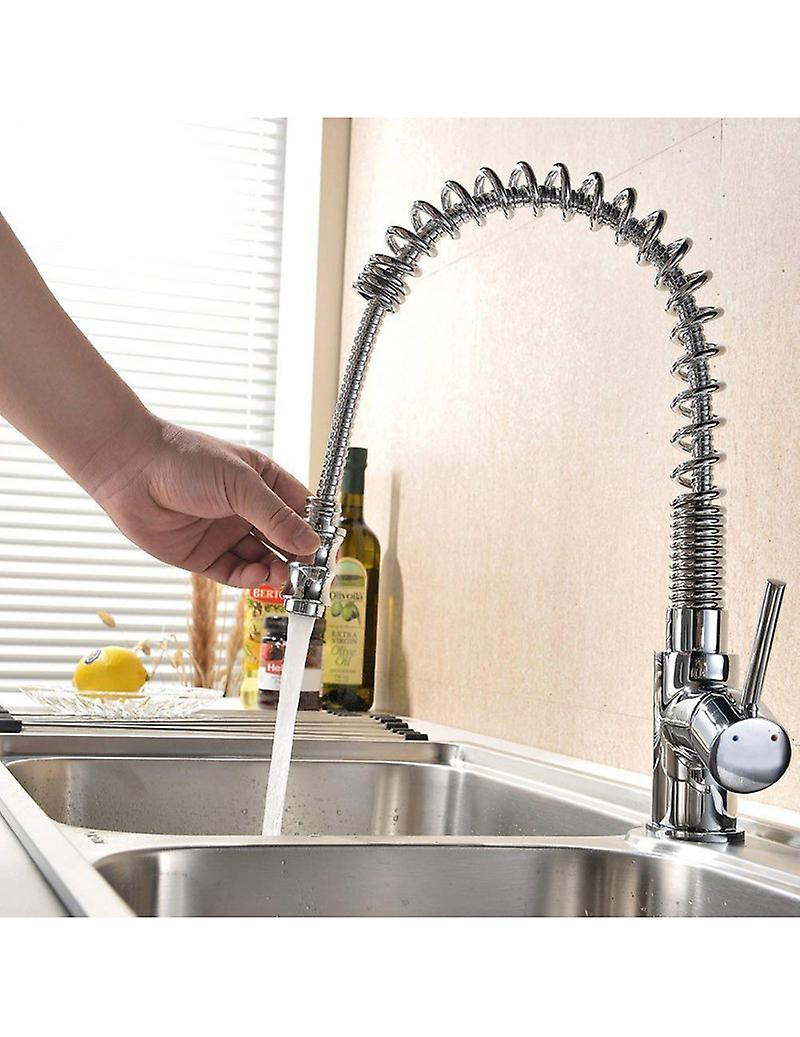 Kitchen Mixer Tap With Spring And Pull-Out