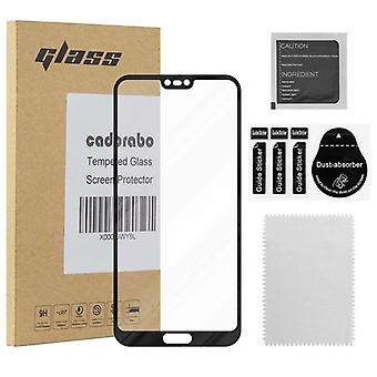 Cadorabo Full Screen Tank Foil for Honor 10 - Tempered Display Protective Glass in 9H Hardness with 3D Touch Compatibility