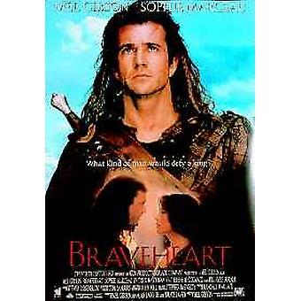Braveheart (Single Sided Reprint) (Mel Gibson & Sophie Marceau) Nachdruck Poster